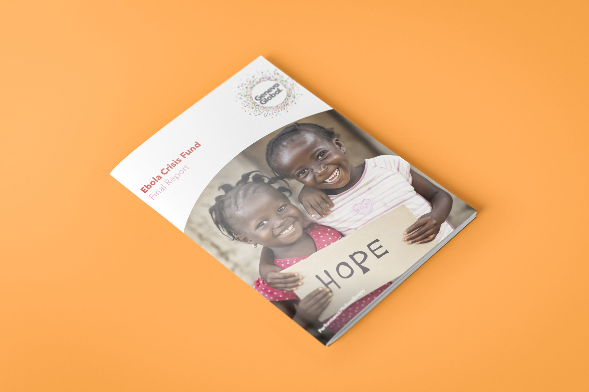 Cover for the Geneva Global: Ebola Crisis Report