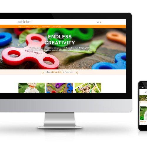 Stick-lets Homepage Desktop and Mobile
